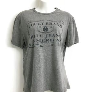 Lucky Brand grey Graphic Tee K0226